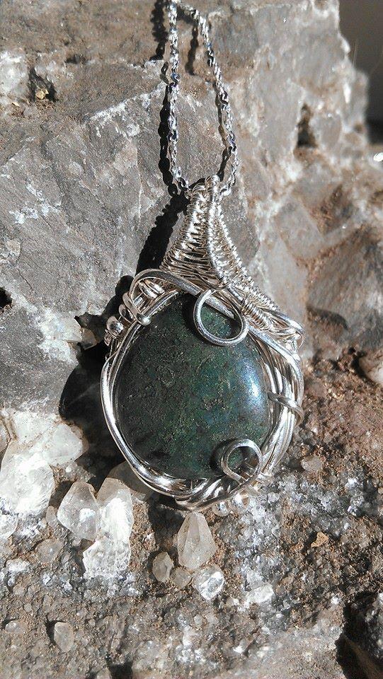 Heady Dark Green Ocean Jasper Sterling by KarmicSutraCreations