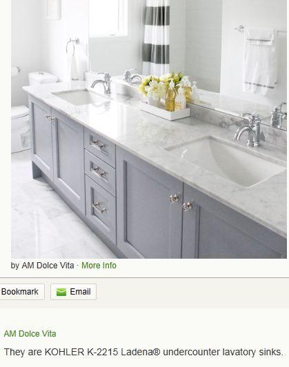 Kohler K 2215 Ladena Undercounter Lavatory Sink Bathroom Countertops Amazing Bathrooms Bathroom
