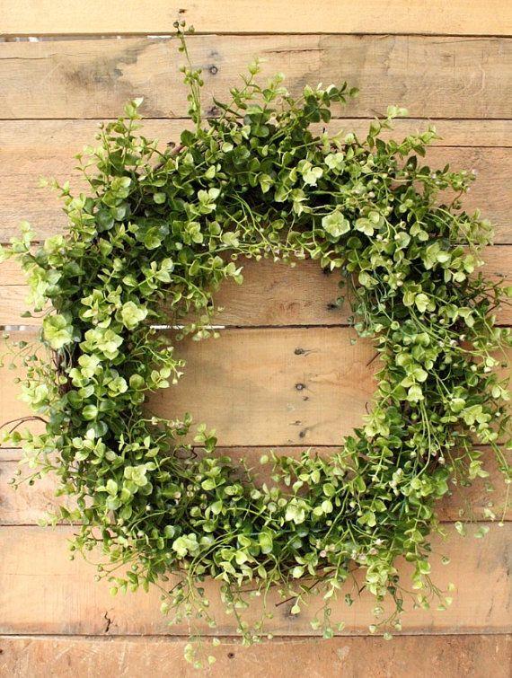 Boxwood Wreath ~ Year Round Wreath ~ Farmhouse Wreath ~ Cottage Wreath