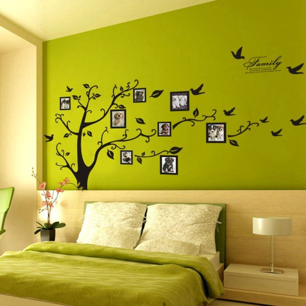 Picture Frame Tree Removable Wall Decor Decal Sticker (BLACK, 1 ...