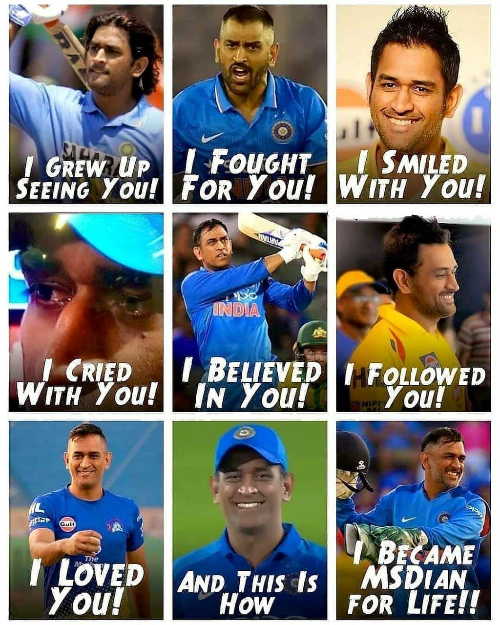 Only MSDhoni fans can relate to this. Sums up our life