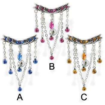 Reversed Chandelier Belly Ring.  #piercing #piercingjewelry #jewelry…