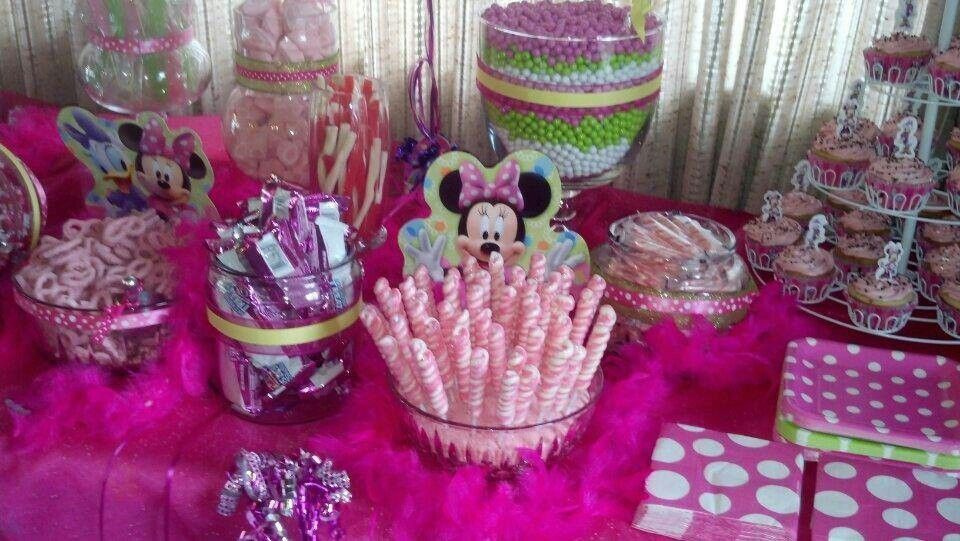 Minnie Mouse Candy Buffet Candy Buffet Party 2nd Birthday Party Themes Minnie Mouse Party