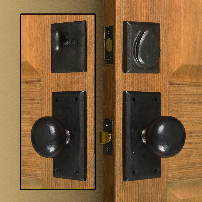 Marwick Rectangular Solid Bronze Entrance Set   Products