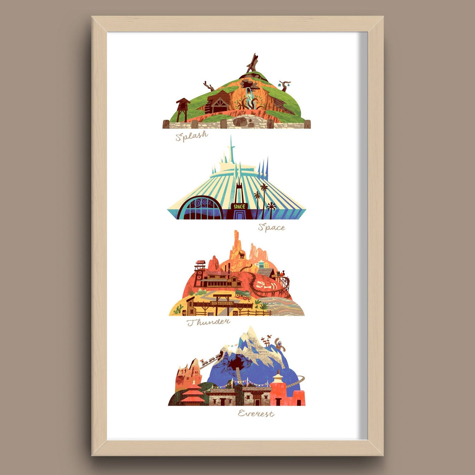 The Disney Mountains Print, Walt Disney World, Spl