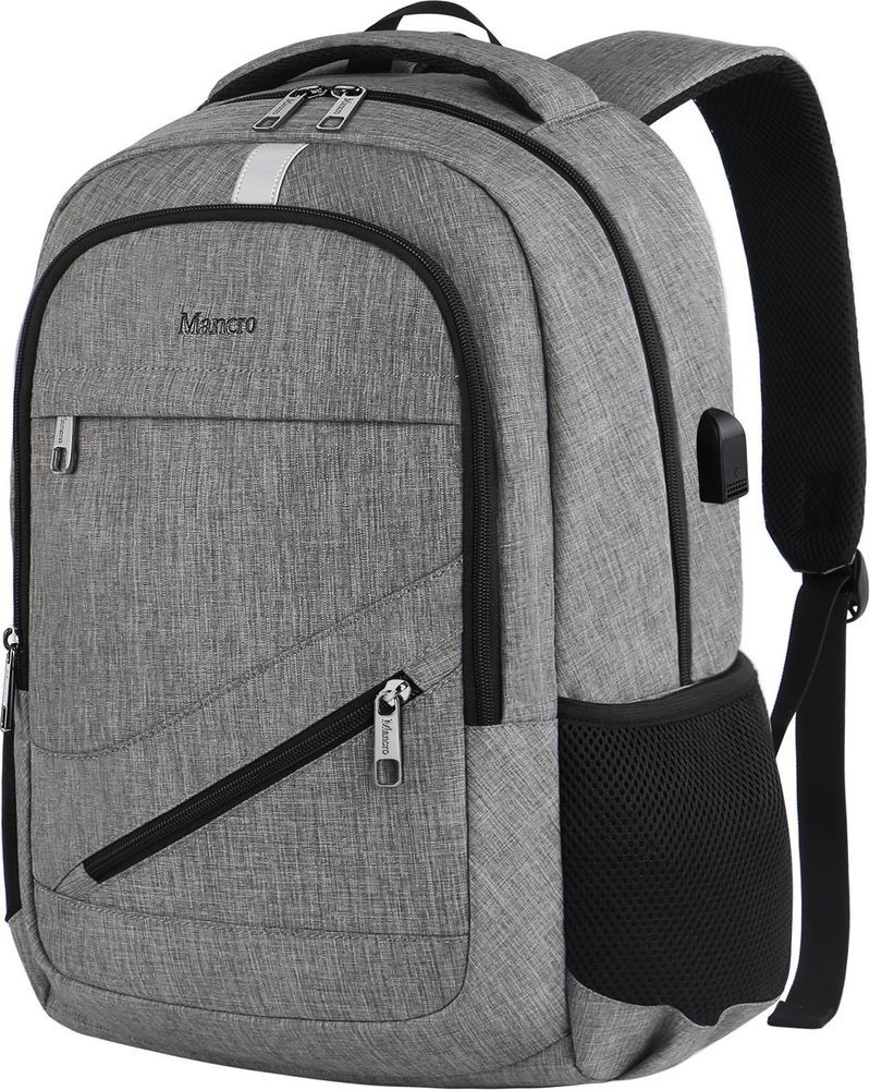 "Durable 14/"" Anti Theft Waterproof Laptop Backpack/&USB Charging Port School Bag"