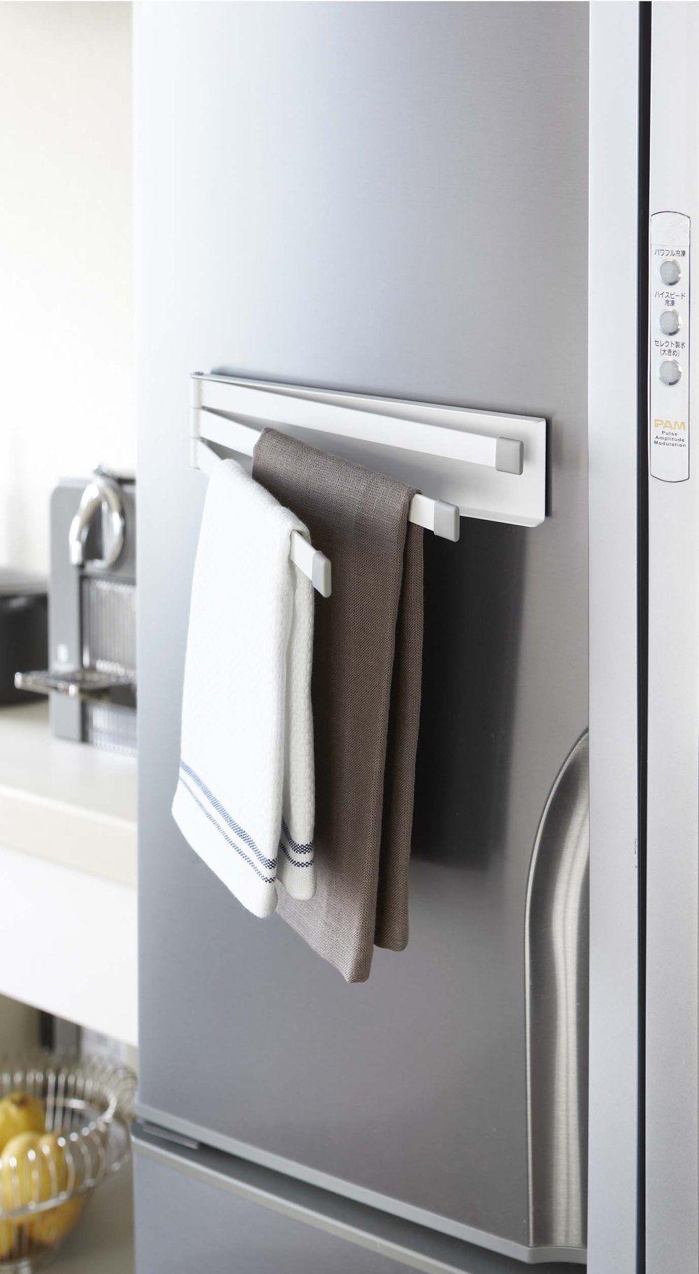 Magnet Dish Towel Hanger In 2020 Kitchen Towel Holder Towel Hanger Dish Towels