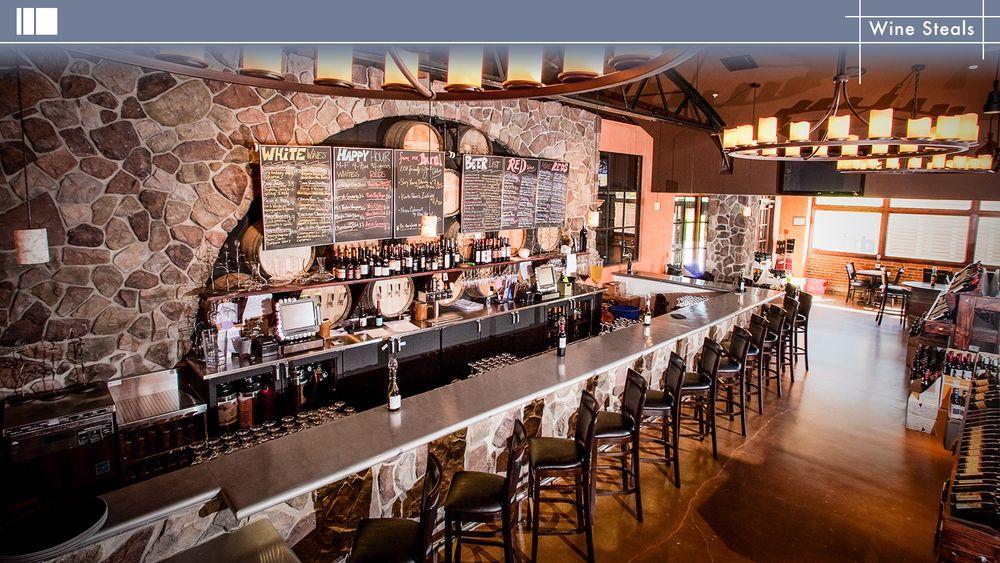 Wine Steals. Design by Orness Design Group, INC. FCSI has members with Orness Design Group. #design #foodservice #restaurant #bar #cafe