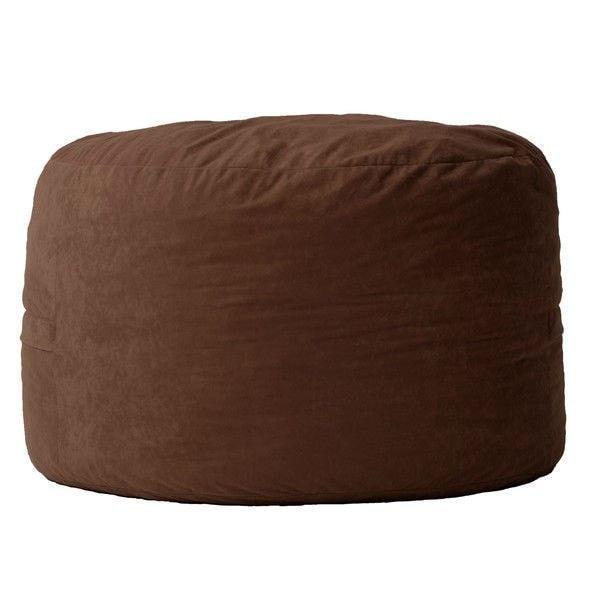 espresso brown suede medium size bean bag chair made in usa rh pinterest com au
