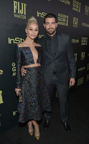 Jesse Metcalfe and Cara Santana attend the InStyle Celebration of Miss Golden Globe 2016.