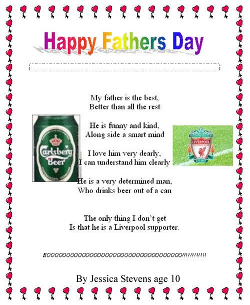 happy fathers day poem lets try to write fathers day poems