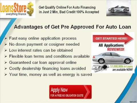 Get Pre Approved For Auto Loan Car Loans Loan Car Finance