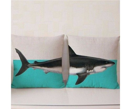 Állatos cápa mintájú dupla díszpárna huzat ajándékba - lakásavatóra ... 8f1cb7ac4d