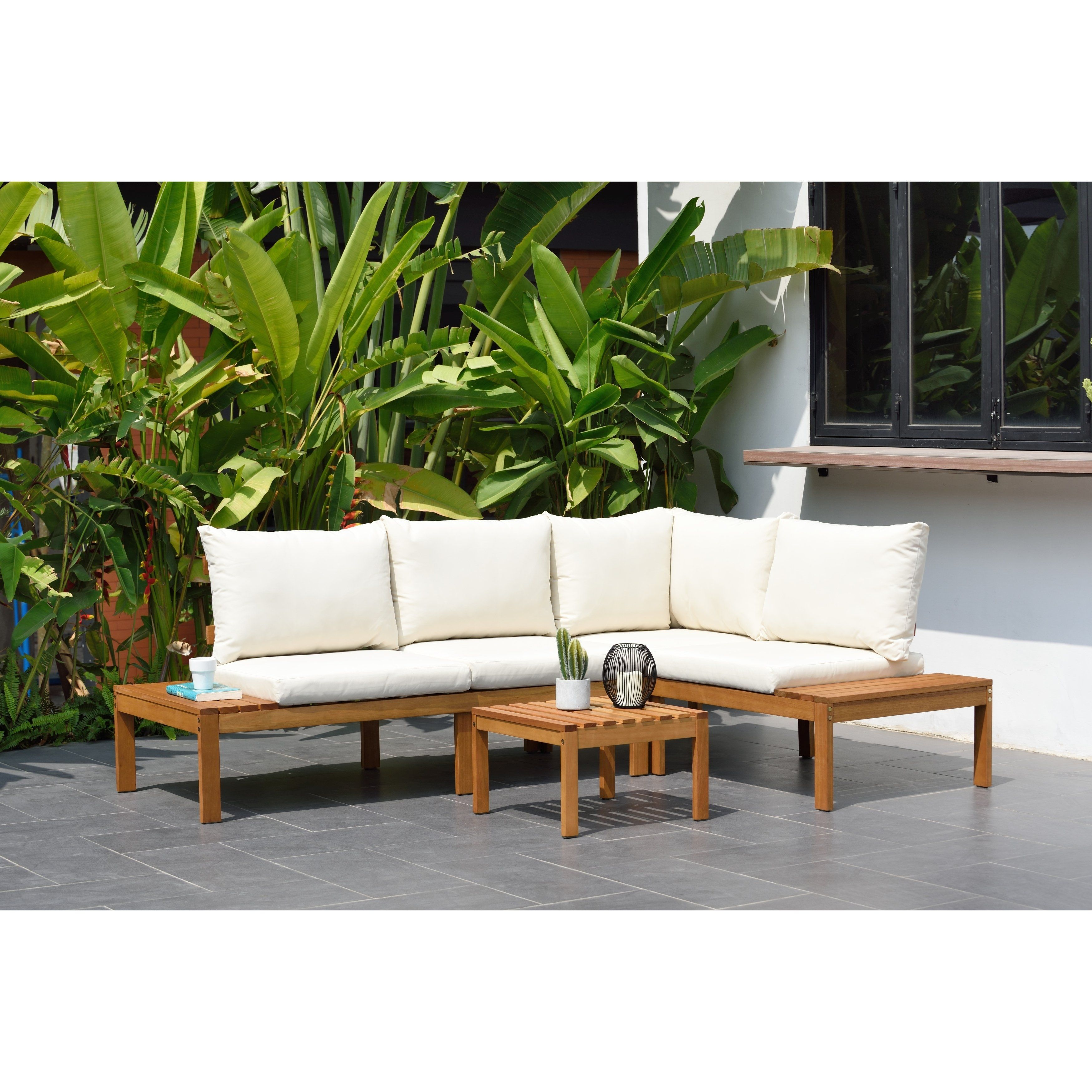 white outdoor sectional cushions