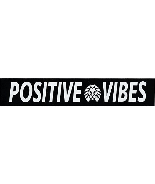 Rastaclat positive vibes sticker zumiez