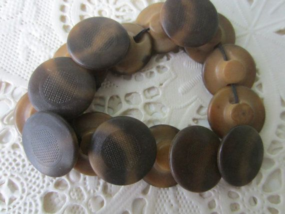 Vintage Buttons  Lot of 17 small brown matching by pillowtalkswf, $5.95