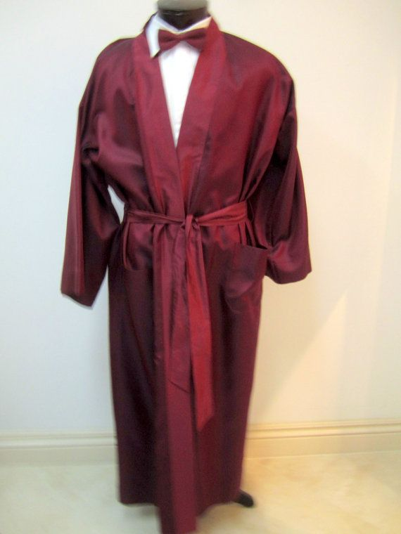 1940/'s Men/'s Raspberry Robe!! New!