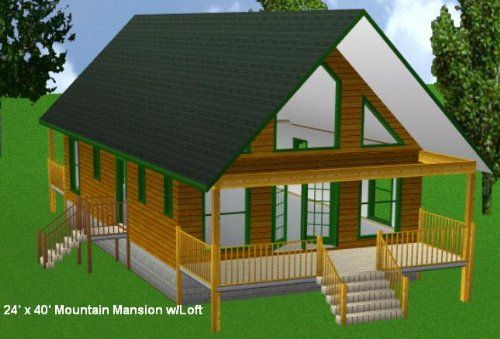 Incroyable 24x40 Cabin W/loft Plans Package, Blueprints, Material List Easy Cabin  Designs Http