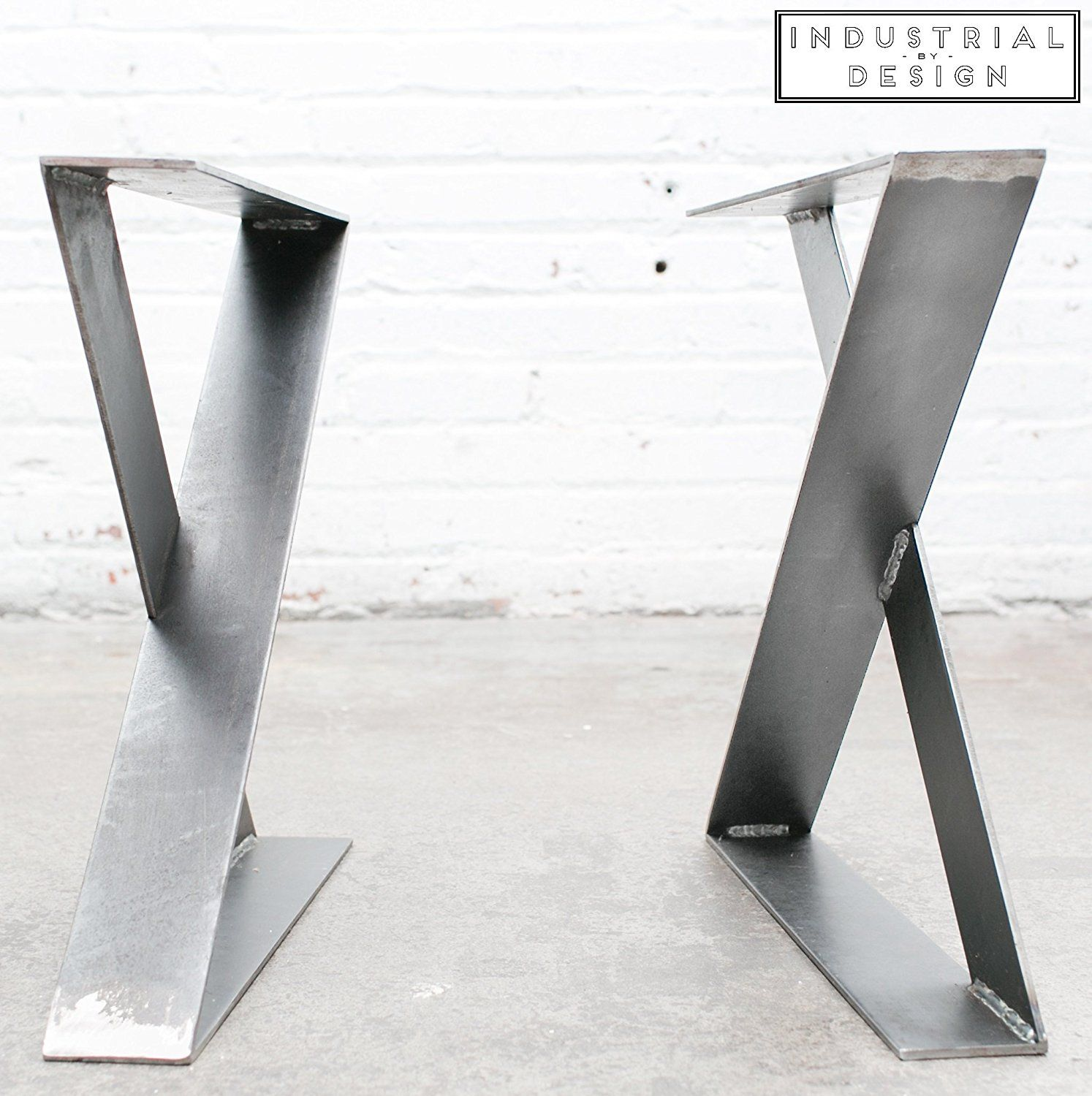 16 X Style Modern Frame Legs Raw Steel Set Of 2 Industrial Strength Table Legs 16 Height X 16 Length X 2 Metal Table Legs Table Legs Steel Table Legs