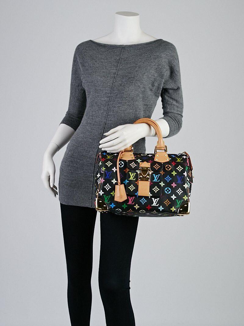 666635d92776 Louis Vuitton Multicolor Speedy 30 Black
