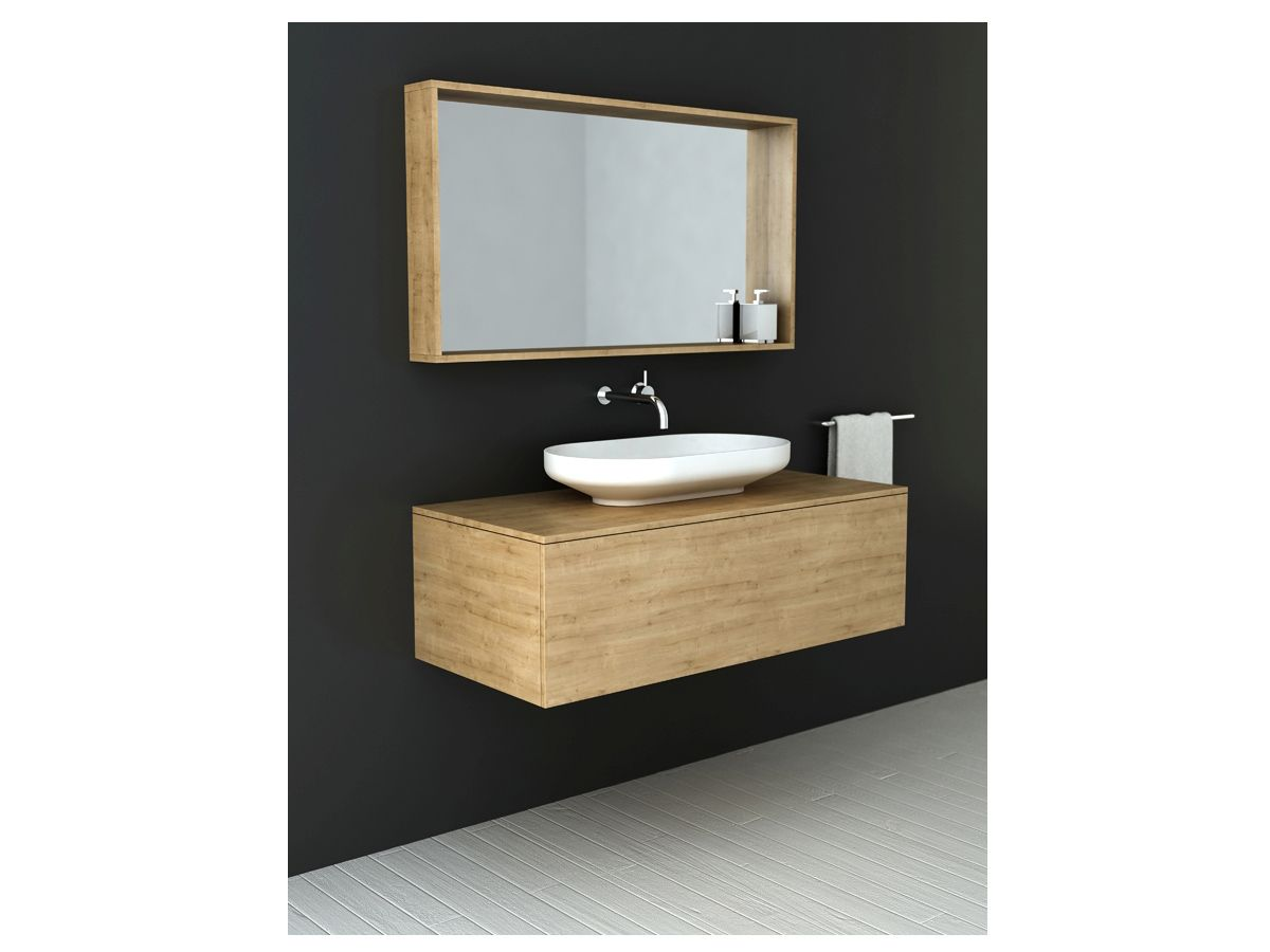 Cibo uber 1200 wall hung vanity from reece - The Matt White Surface Of The Basin Offers A Stunning Contrast With The Warm Timber Joinery Venice 700 Basin On 1200 Vanity With Venice 1200 Mirror