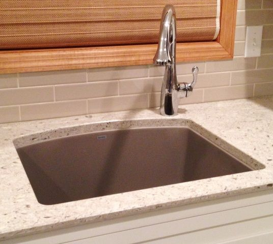 Single Hole Faucet Placement For Undermount Sinks | Clean & Clever on wall mount kitchen sink faucet, farmhouse kitchen sink faucet, single kitchen sink faucet,