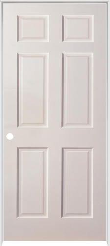 Mastercraft Reg Duracore Reg 30 X 80 Primed Smooth Raised 6 Panel Prehung Interior Door Right Inswing Prehung Interior Doors Doors Interior Prehung Doors