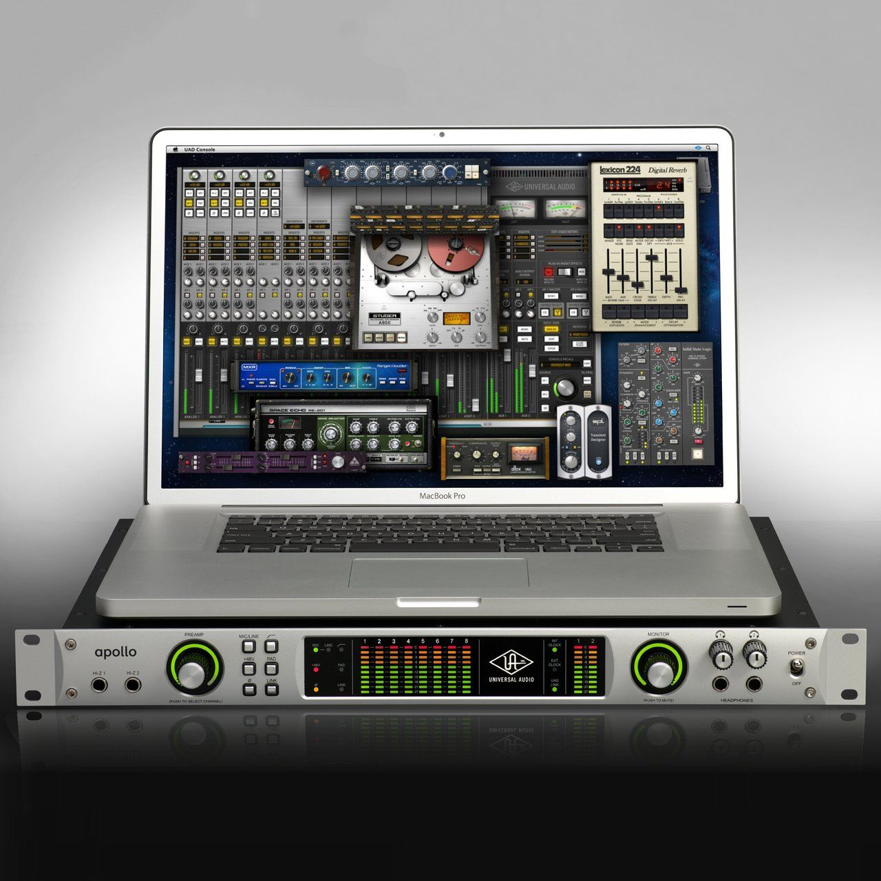 Universal Audio Apollo Interface Recording studio