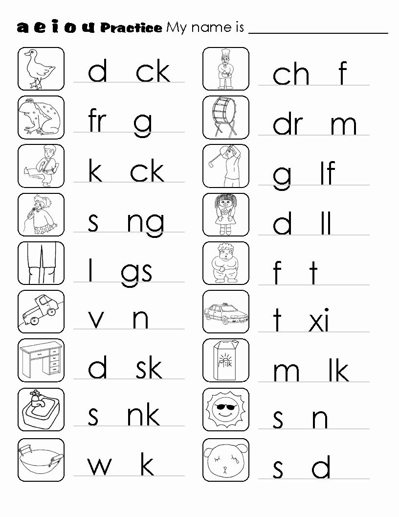 Phonics Worksheets Pdf Awesome Kindergarten Phonics Worksheets
