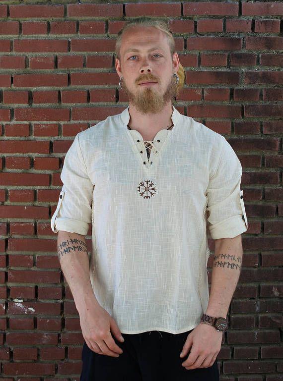 Viking Sleveless Shirt, Norse Shirt, Viking Shield, Pagan, Ozora, Boom, Viking man, Ragnar, Re-enactment, Earthy, Celtic.