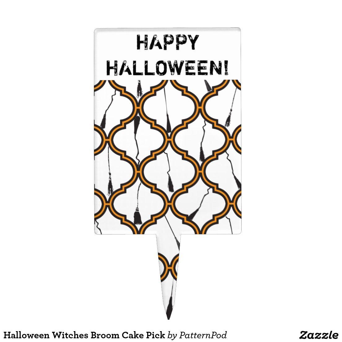 Halloween Witches Broom Cake Pick