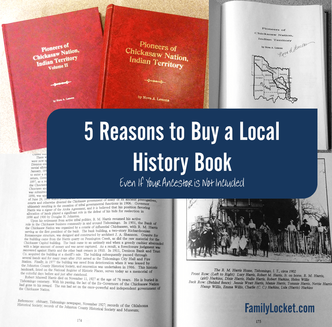 5 Reasons To Buy A Local Family History Book Even When