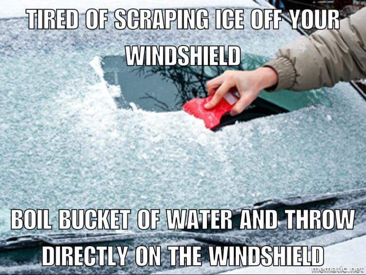 Do Not Try This Quot Helpful Winter Auto Tip Quot From The