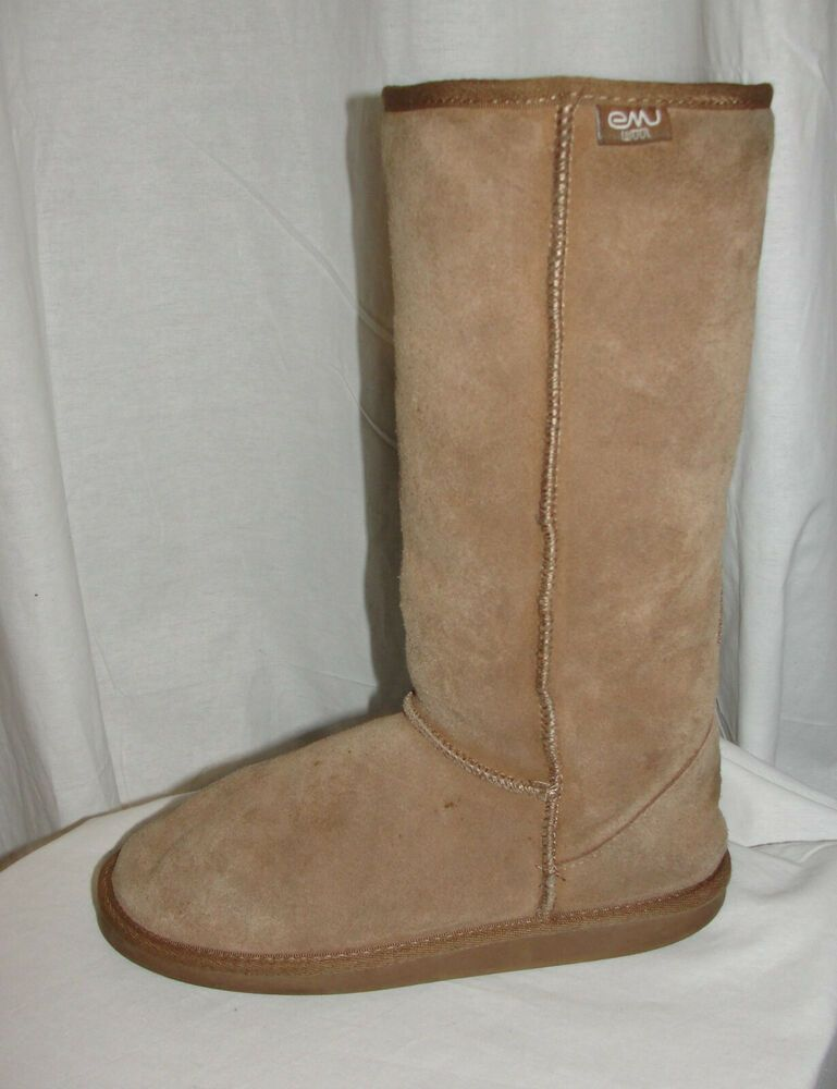 c11ec566b8 EMU Shoes Women's Size 9M Tan Bronte Hi Boots Suede Leather Merino Wool  Lining #Emu #Boots #Alloccasion