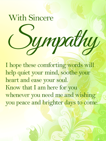 I Am Here For You Sympathy Card Express Your Heartfelt