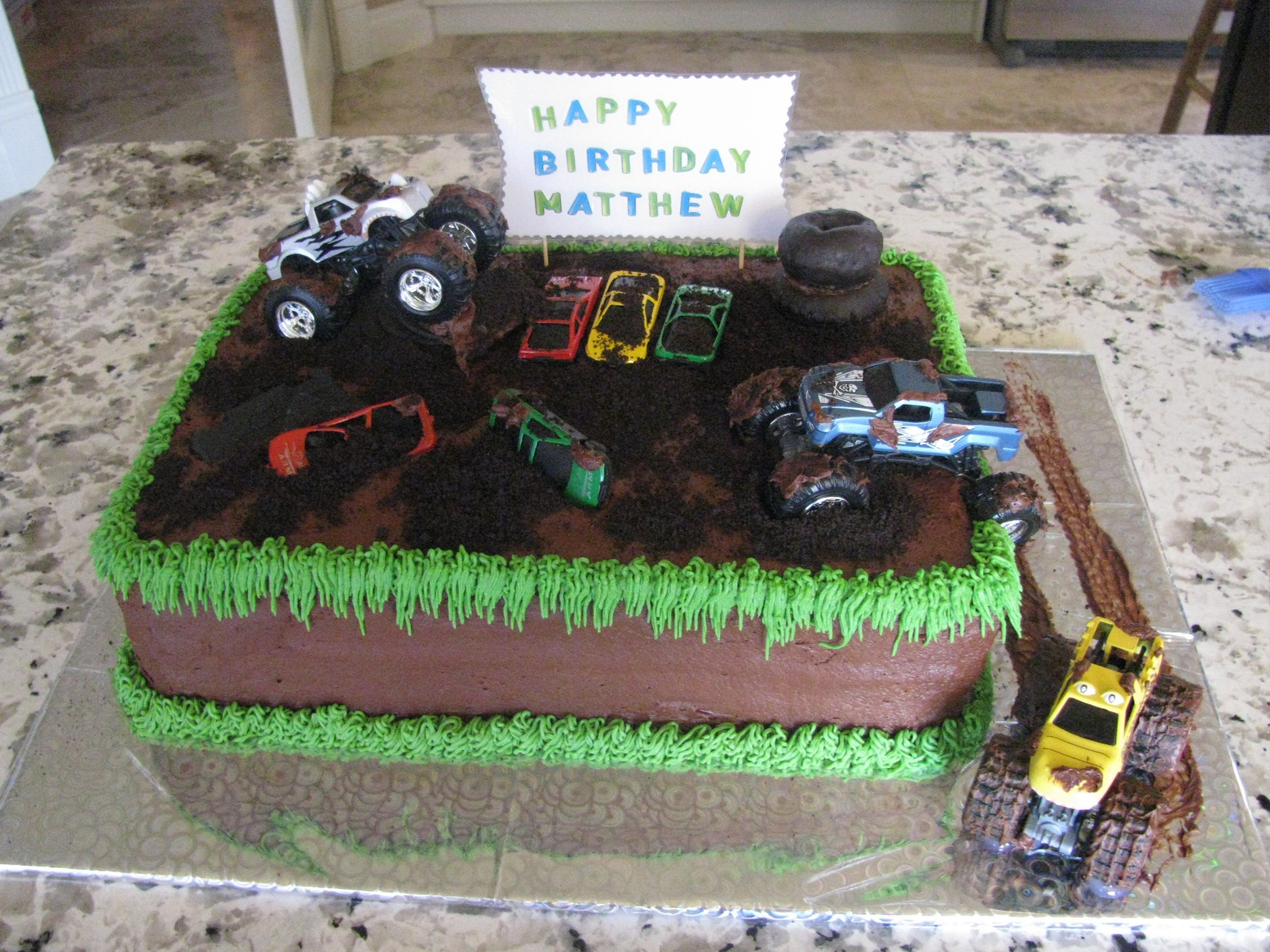 Monster Jam This Was A Fun Cake To Make Thanks For All