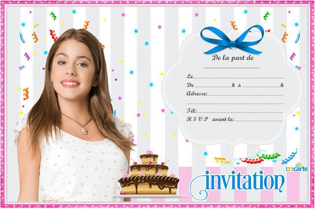 Invitation anniversaire c 39 est moi violetta disney - Image de violetta a telecharger ...