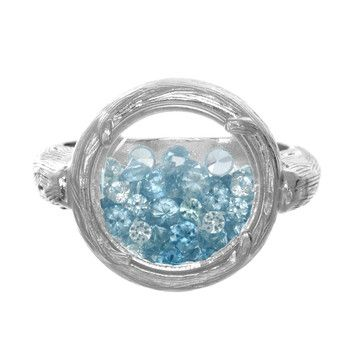 Sparkling Blue & Silver Ring.
