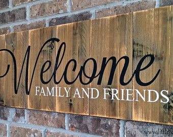 Rustic Welcome Sign Large Welcome Sign Outdoor By
