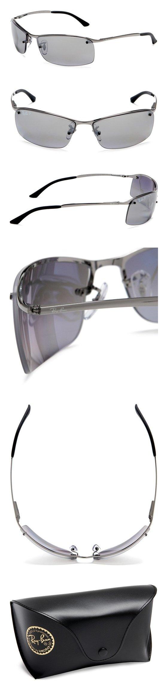 fc89575b7e7  121.99 - Ray-Ban RB3183 Sunglasses 63 mm Gunmetal POLAR GREY MIRROR SILVER  GRAD.