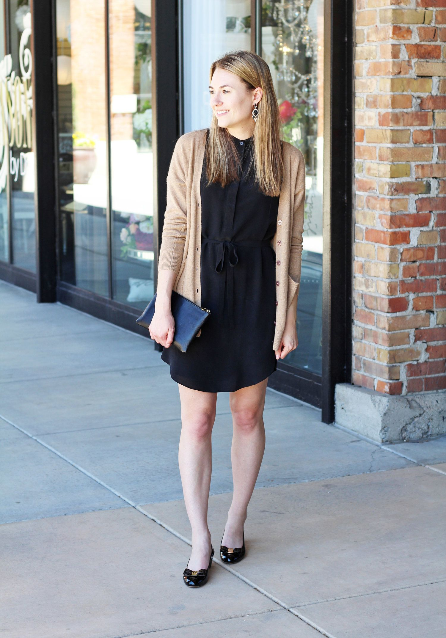 Graduation outfit  little black dress and Ferragamo Vara pumps — Cotton  Cashmere Cat Hair ca8c1da88