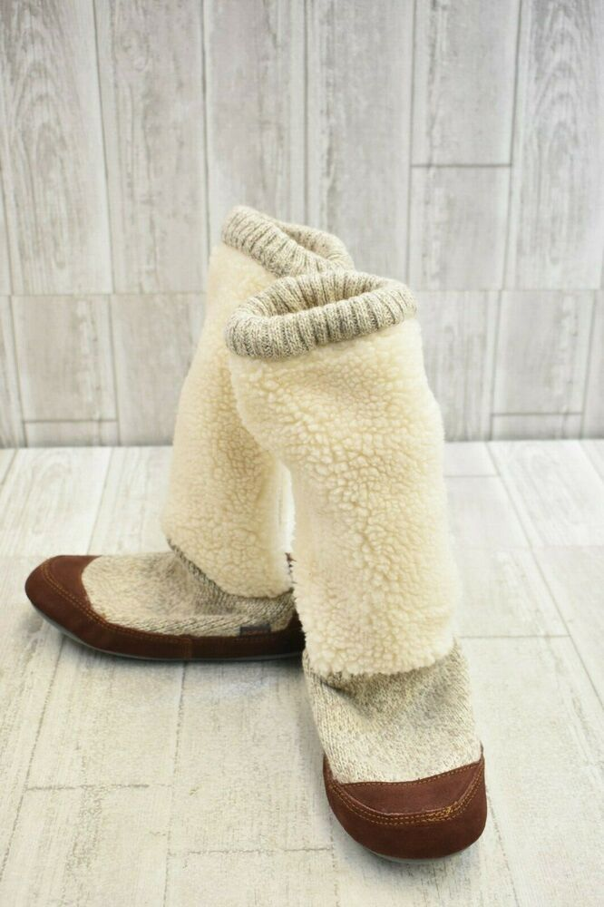 3528942ea76 eBay Advertisement) Acorn Slouch Boot Slipper Socks, Women's Size ...