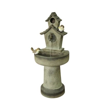 Charmant Garden Treasures Series Name 28.7 In Resin Tiered Fountain