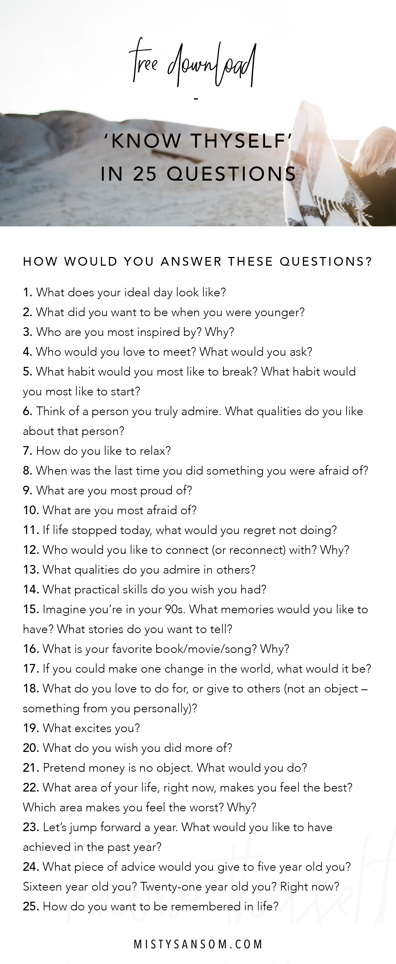 Know Who You Are With These 25 Questions