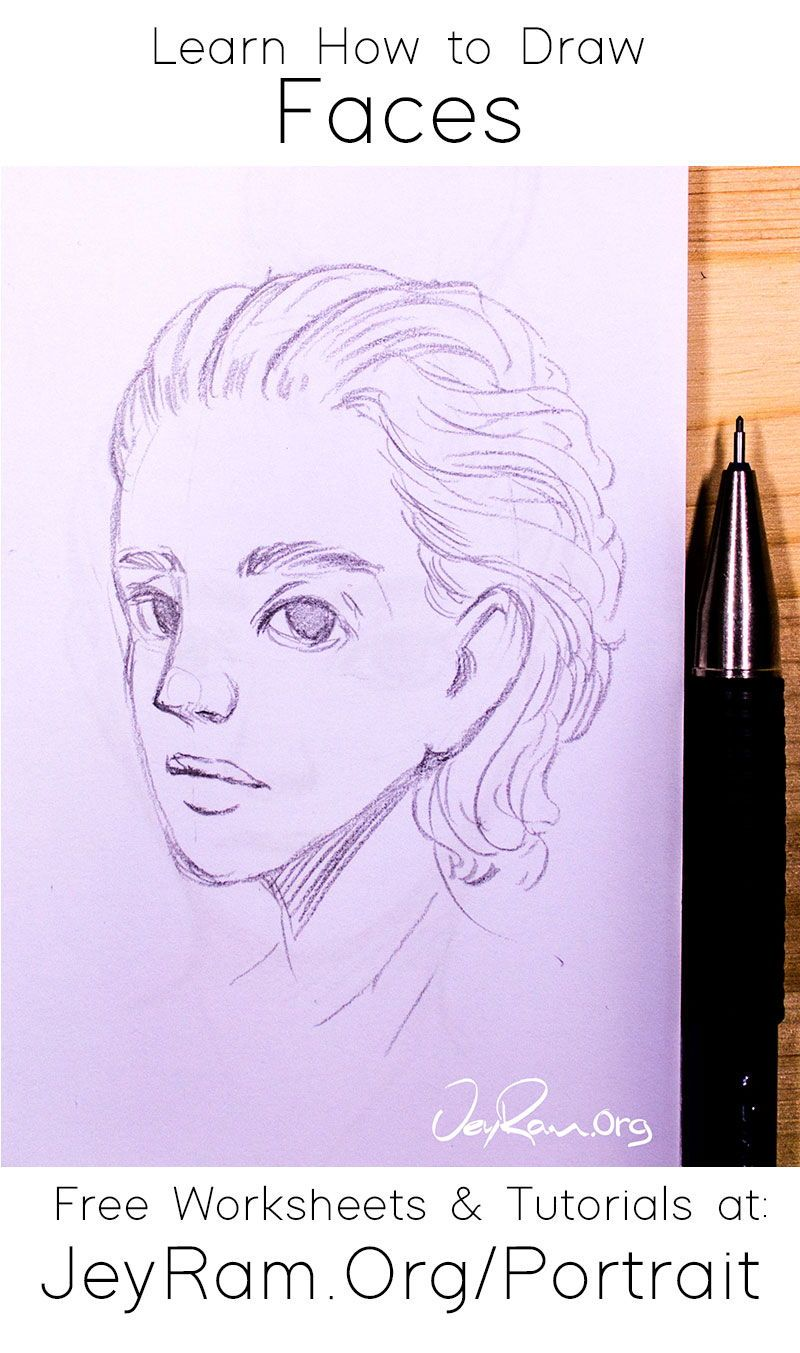 How To Draw Simple Faces Worksheets Tutorials Drawings Drawing Tutorial Face Drawing