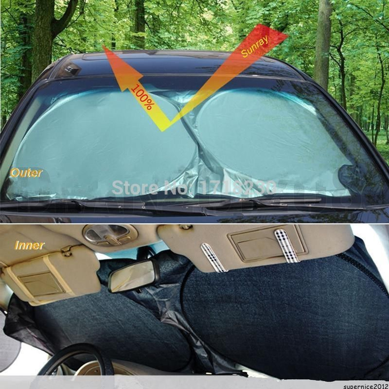 Auto Front Rear Window Sun Shade Car Windshield Visor