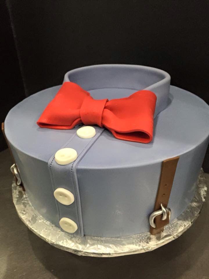 Astonishing Mens Savvy Bow Tie And Suspenders Cake Designed By Sam Lucero Funny Birthday Cards Online Benoljebrpdamsfinfo