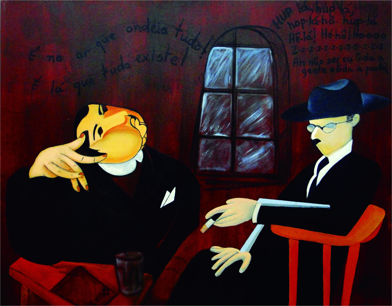 Fernando Pessoa com seu amigo Mário de Sá-Carneiro