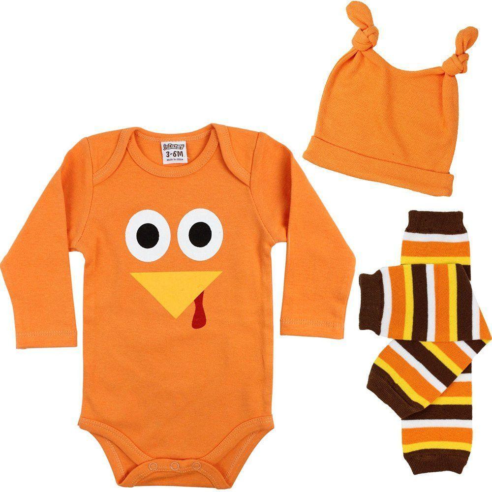 Owl Couple Turkey Bodysuit for Baby Long-Sleeve Infant Onesies