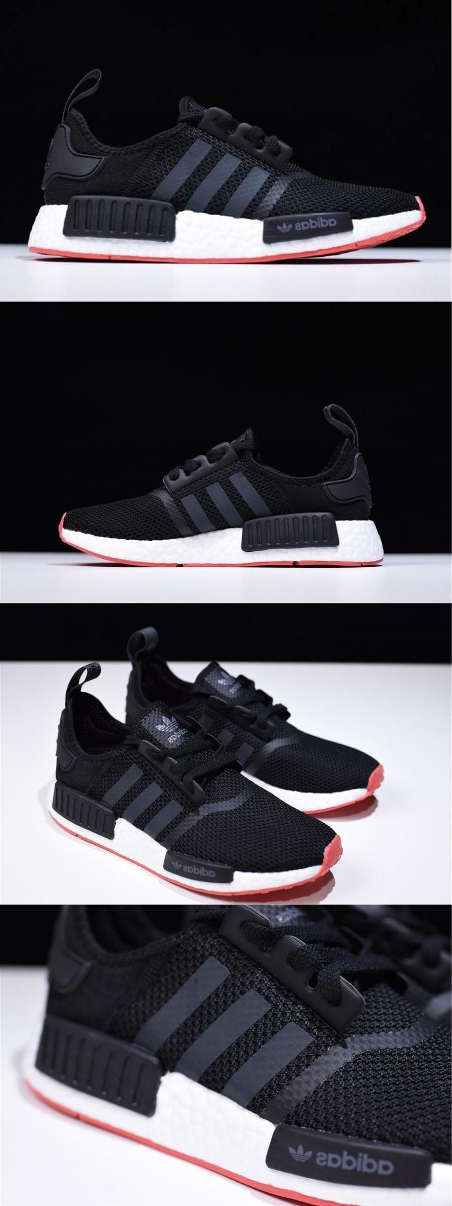 Adidas Nmd R1 Black/carbontrace Scarlet Men's Running